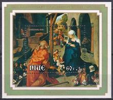 Niue 1978 Religion Christentum Weihnachten Christmas Kunst Arts Kultur Gemälde Paintings Albrecht Dürer, Bl. 10 ** - Niue