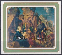 Niue 1978 Religion Christentum Weihnachten Christmas Kunst Arts Kultur Gemälde Paintings Albrecht Dürer, Bl. 11 ** - Niue