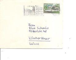 France ( 1314 (avec 2 Péniches Absentes)-sur Lettre De 1963 De Aix-en-Provence Vers La Suisse à Voir) - Curiosidades: 1960-69 Cartas