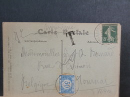 75/410 CP  POUR LA BELG. TAXE - Marcofilie (Brieven)