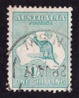 Australia 1915 Kangaroo 1/- Green 2nd Watermark Used - NSW - 1913-48 Kangaroos
