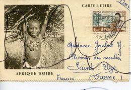 Carte-lettre. Afrique Noire. Envoyée Dans La DROME A SAINT-UZE. Tampon BAMAKO - Autres