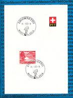 Switserland -  Blatt Mit Sonderstempel / 11.01.1957 - Ligornetto - Storia Postale