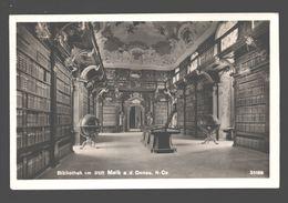 Bibliothek Im Stift Melk A. D. Donau - Fotokarte - 1950 - Melk