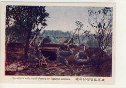 Chine- Our Soldiers In The Trench Schooting The Japanese Airplanes - Chine