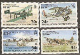 British Indian Ocean Territories  1993 SG 136-9 75th Anniversary R.A.F. Unmounted Mint - British Indian Ocean Territory (BIOT)
