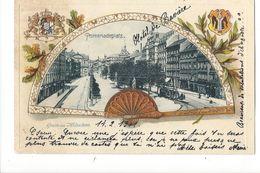 19491 - Gruss Aus München Promenadeplatz Eventail - Muenchen