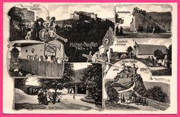 Hohenneuffen - Multivues - Eingangsthor - Aussichplatte - Signalkorb U. Wirtschaft - Epée - Animée - 1913 - Eislingen