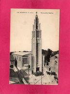 93 Seine Saint Denis, Le Raincy, Nouvele Eglise, Animée, 1924, (Au Camélia) - Le Raincy