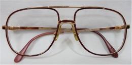 Original LACOSTE Brillengestell Aus Den 80ern - Dunkelrot - 54/15 - Brillen