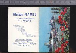 Calendrier - Petit Format - 1968 - Mercerie Navel, Ancenis 44 - Calendriers