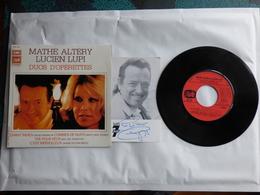 EP 45T MATHE ALTHERY ET LUCIEN LUPI  LABEL BARCLAY EGF 861 DEDICACE SUR CP TELE 7 JOURS  DES 2 CHANTEURS - Disco & Pop