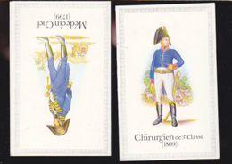 Calendrier - Petit Format - 1980 - Uniformes Medecin Chef 1799 + Chirurgien De 3è Classe 1809 Santé - Kalenders