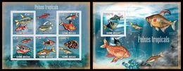 GUINEA BISSAU 2009 - Tropical Fishes - YT 3164-8 + BF492 - Vissen