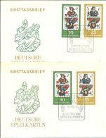 FDC 1967 DDR   KARTEN - Juegos
