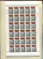 Belgie 1966 1375 Belgian Congo Kasai Mask Full Sheet Plaatnummer 4 - Feuilles Complètes