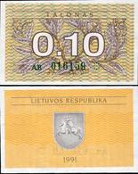 Lithuania 1991 - 0,10 Talonas - Pick 29a UNC - Lithuania