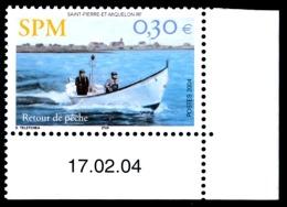 ST-PIERRE ET MIQUELON 2004 - Yv. 815 ** Cdf Daté  Faciale= 0,30 EUR - Retour De Pêche  ..Réf.SPM11330 - Neufs