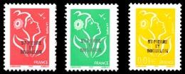 ST-PIERRE ET MIQUELON 2005 - Yv. 829 831 832 **   Faciale= 1,74 EUR - Mar. 14 Juillet (3 Val.)  ..Réf.SPM11337 - Neufs