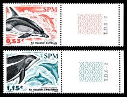 ST-PIERRE ET MIQUELON 2005 - Yv. 843 Et 844 ** TB Bdf Num TD  Faciale= 1,68 EUR - Dauphins (2 Val.)  ..Réf.SPM11341 - Neufs