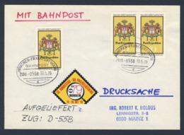 Deutschland Germany 1978 Cover / Brief  / Lettre - 33. Bundestag - 80. Philatelistentag - Bahnpost - Zug 558 - Treinen