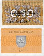 Lithuania 1991 - 0,10 Talonas - Pick 29b UNC - Lituania