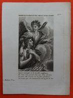 Image Pieuse - REPRESENTATION D'UNE AME EN PURGATOIRE - XIXème - Images Religieuses