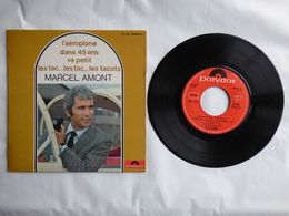 EP 45T MARCEL AMONT  LABEL POLYDOR 27.336  L'AEROPLANE - Disco, Pop