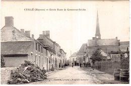 CPA MAYENNE.CUILLE.ENTREE ROUTE DE GENNES-sur-SECHE - Autres Communes