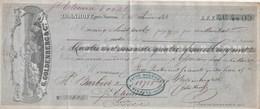 Lettre Change 25/6/1854 Goldenberg ZORNHOFF Près Saverne Bas Rhin à Barbier St Etienne Loire Cachet Fiscal - Cambiali