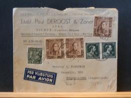 75/463   LETTRE BELGE   POUR ARGENTINIE  1949 - Lettres & Documents