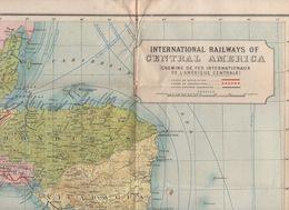 Carte CHEMINS DE FER INTERNATIONAUX DE L'AMERIQUE CENTRALE (PPP7702) - Cartes Géographiques