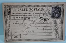 1878     -       SAGE             10 C  GRIS             BESANCON       POUR            LYON - Entiers Postaux
