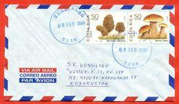 Costa Rica 1999. Mushrooms. Complete Series.Envelope Passed The Mail. - Costa Rica