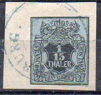 Hanovre N° 4 Oblitéré  - Timbre DEFECTUEUX - Cote 110€ (Y&T 2005) - Hanovre