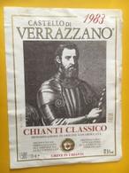 7082 - Castello Di Verrazzano 1983 Chianti Magnum Italie - Etiketten