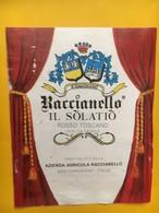 7083 - Baccianello Il Solatio Rosso Toscano S,Gemignano Italie - Etiquettes