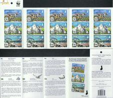 Finnland MH 'WWF Polarfuchs Schnee-Eule Lachs' / Finland Booklet 'WWF Polar Fox, Snowy Owl & Salmon'  **/MNH 2018 - W.W.F.