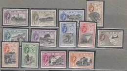 SIERRA LEONE 1956 QEII Definitive Complete Set MVLH (*) Mi 176-188 SG 210-222 #12964 - Sierra Leone (...-1960)