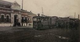 Quiévrain La Gare Avec Trams (Bicolor) - Quiévrain