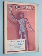 """Catalogus Tentoonstelling """" DE MENS """" Stadsfeestzaal ANTWERPEN 12 Jan - 10 Feb. 1952 ( 48 Pag.) Druk. Mercurius ! - Culture"""