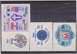 1979 Tonga - Decade Of Progress Self Adhesive Lot 4v., MNH - Tonga (1970-...)
