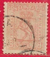Norvège N°15 8s Rose 1867 O - Gebraucht