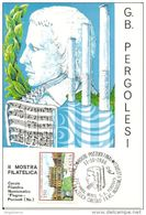ITALIA - 1986 POZZUOLI (NA) 250° Anniv. Morte G.B. PERGOLESI Compositore Su Cartolina Speciale - Muziek