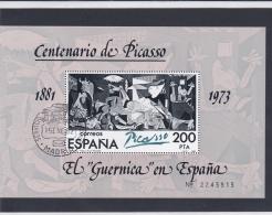 Spain 1973 El Guernica By Picasso Souvenir Sheet Used    (H36) - Arte