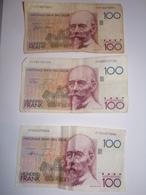 Belgique.Lot De 3 Billets De 100 Francs. - [ 2] 1831-... : Belgian Kingdom