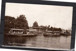 1934 Scarce Private VERY SHARP Photo Card RIGA Agenskalns With Boats Latvijas Skauti Gaida Jos(r3-27) - Latvia