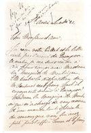 LAS.CHARLES DE FALBAIRE,avocat.St-André.Affaire De La Marquise De MONTAIGU.1892.4 LETTRES +3 CARTONS. - Autographes