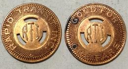 TOKEN JETON GETTONE TRASPORTO TRANSIT U.S.A. RAPID TRANSIT R.T.I. - Monetary/Of Necessity