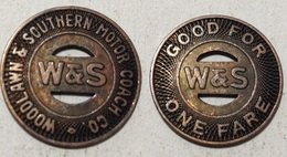 TOKEN JETON GETTONE TRASPORTO TRANSIT U.S.A. WOODLAWN & SOUTHERN MOTOR COAC - Monetary/Of Necessity